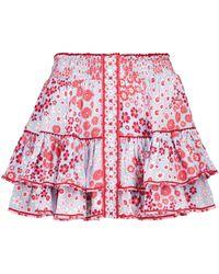 Poupette Exclusivité Mytheresa – Mini-jupe Camila à fleurs - Rouge