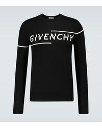 Givenchy Pull en laine à logo - Noir
