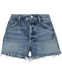 Agolde Parker Mid-rise Denim Shorts - Blue