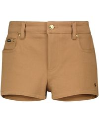 Tom Ford Low-Rise-Jeansshorts - Braun