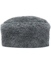 Max Mara Colby 3 Alpaca And Wool-blend Hat - Grey