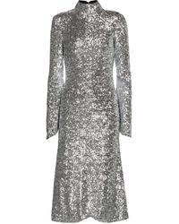 Rebecca Vallance Gatsby Sequined Midi Dress - Metallic