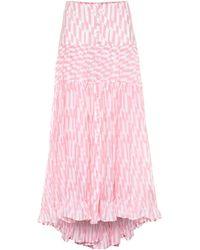 Alexandra Miro Penelope Printed Cotton Maxi Skirt - Pink