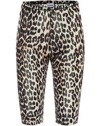 Ganni Bedruckte Shorts - Braun