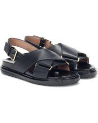 Marni Leather Sandals - Black