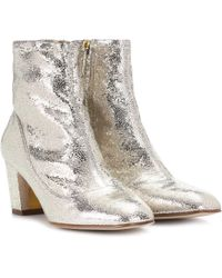 Rupert Sanderson Fernie Leather Ankle Boots - Metallic