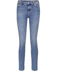 AG Jeans High-Rise Slim Jeans Mari - Blau