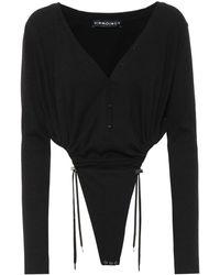 Y. Project Stretch Cotton Bodysuit - Black