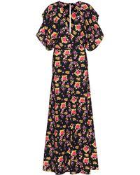 Dodo Bar Or Floral Printed Jersey Maxi Dress - Black