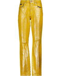 Dolce & Gabbana Bedruckte Mid-Rise-Jeans - Gelb