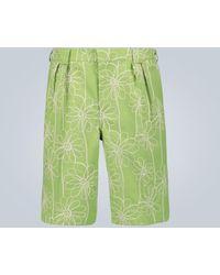 Jacquemus Le Short De Costume Shorts - Green