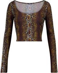 Versace Crop top con print de serpiente - Multicolor
