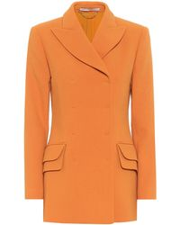 Emilia Wickstead Brenton Wool Blazer - Orange