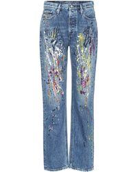 Calvin Klein - Painted Straight-leg Jeans - Lyst