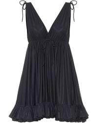 Balenciaga Jersey Babydoll Dress - Black