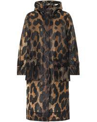 Ganni Leopard-print Rain Jacket - Multicolour