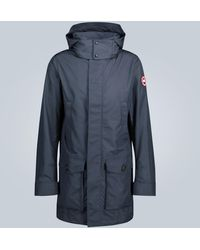 Canada Goose Crew Trench Technical Fabric Coat - Blue