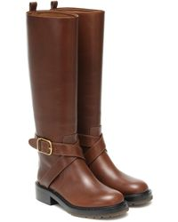 Chloé Leather Knee-high Boots - Brown