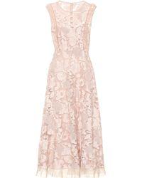 RED Valentino - Lace Midi Dress - Lyst