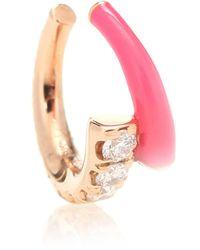 Melissa Kaye Ear cuff Lola de oro de 18 ct con diamantes - Rosa