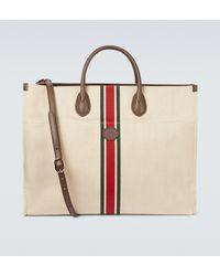 Gucci Tote Bag aus Leinen-Canvas - Natur