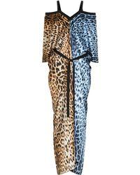 Roberto Cavalli Leopard-print Kaftan - Multicolor