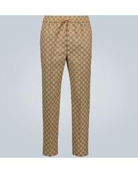 Gucci GG Print Drawstring Trousers - Multicolour