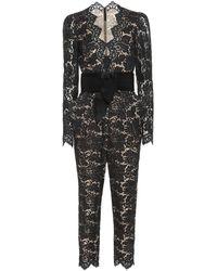 Stella McCartney Combi-pantalon en dentelle - Noir