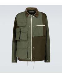 Sacai Cotton-nylon Oxford Blouson Jacket - Green