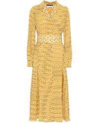ROTATE BIRGER CHRISTENSEN Polka-dot Pleated Dress - Yellow