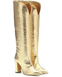 Paris Texas Stivali in pelle stampata - Metallizzato