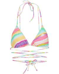 Reina Olga Miami Printed Bikini Top - Multicolour