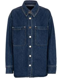 SLVRLAKE Denim X Ellery Overland Denim Shirt Jacket - Blue