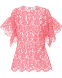Valentino Lace Top - Pink