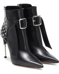 Alexander McQueen Victorian Leather Ankle Boots - Black