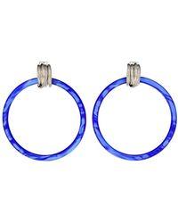 Balenciaga Orecchini Hoop - Blu
