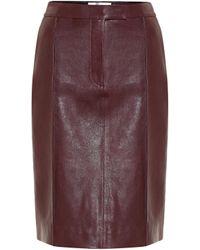 Victoria, Victoria Beckham Leather Pencil Skirt - Purple