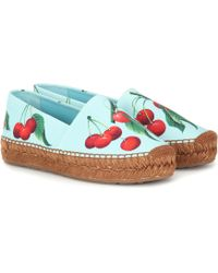 Dolce & Gabbana Exclusive To Mytheresa – Cherry Printed Espadrilles - Blue