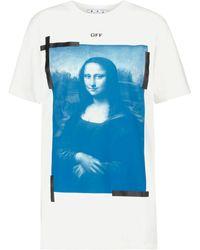 Off-White c/o Virgil Abloh Camiseta de algodón estampada - Azul