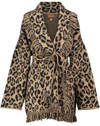 Alanui Veste en laine mélangée à motif léopard - Neutre