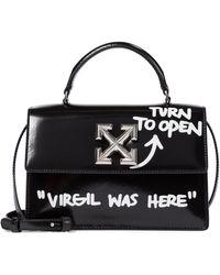 Off-White c/o Virgil Abloh Jitney 1.4 Leather Shoulder Bag - Black