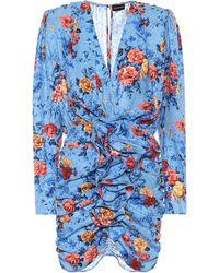 Magda Butrym Burgos Floral Silk Minidress - Blue