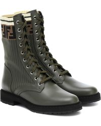 Fendi Ankle Boots aus Leder - Mehrfarbig