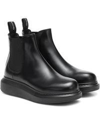 Alexander McQueen Oversized Sole Chelsea Boots - Black
