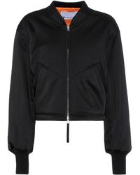 T By Alexander Wang - Cropped Bomber Jacket - Lyst