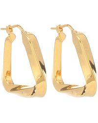 Bottega Veneta Gold-plated Twisted Hoop Earrings - Metallic