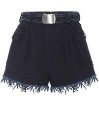 Philosophy Di Lorenzo Serafini - Belted Cotton Shorts - Lyst