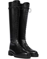 Khaite York Leather Knee-high Boots - Black