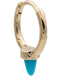 Maria Tash 14kt Gold And Turquoise Single Earring - Metallic