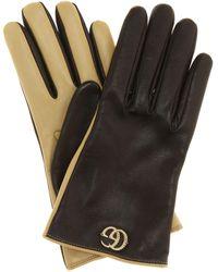 Gucci Handschuhe aus Leder - Mehrfarbig